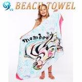 Tovagliolo 100% del velluto della miscela del cotone con il tovagliolo di spiaggia reattivo della stampa