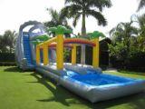 Diapositiva de agua inflable al aire libre gigante del hipopótamo para el parque al aire libre del agua
