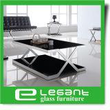 緩和されたガラスの上が付いている長いステンレス鋼のコーヒーテーブル