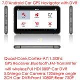 """7.0 chauds """" système de navigation potable du véhicule GPS avec le bras A7 800MHz de crispation"""