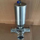 extremidade sanitária tripartido portuária 3-Way da braçadeira da válvula de esfera do aço inoxidável CF8/CF8m/CF3m/316L/304L de L ou de T