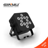 12X3w RGBW LED Flat PAR Light met Op batterijen