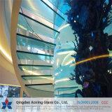 Espaço livre da folha moderado/vidro temperado para a aplicação Home/escadas