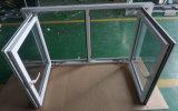 UPVC Hurrikan-Auswirkung-Dreiergruppe glasig-glänzendes Flügelfenster-Fenster für Haus