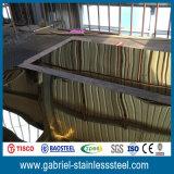 Nam de Gouden Prijslijst van het Blad van het Roestvrij staal van de Kleur 304L toe