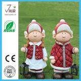 Muñeco de nieve encantador de la Navidad de la decoración de Polyresin