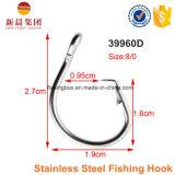 39960d Silver Color Size 12/0 Gancho de pesca em aço inoxidável