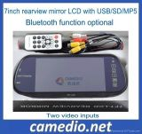 "7 "" TFT LCD Car Rear View/Rearview Mirror Monitor con USB/SD/MP5 M705c"