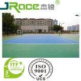 Revêtement extérieur de surface de sport de court de tennis de Dix couleurs