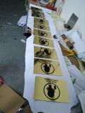 Het openbare Roestvrij staal van het Metaal van Plaatsen schilderde de Plaques van het Bericht