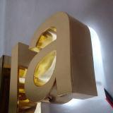 Il titanio posteriore Premium di Lit del grado LED segna il segno con lettere