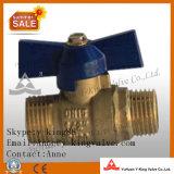 Medio '' Latón válvula de bola con mango de acero (ABL-1011)