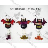 """11 """" Hx7.5 """" L ornamentos del palo con la decoración de acrílico de Legs-3asst-Halloween"""