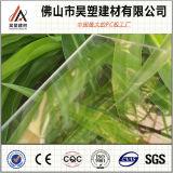 A fábrica de China dirige a folha contínua do policarbonato desobstruído de 1mm para a tampa da telhadura