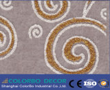 Écran antibruit Shaped de fibre de polyester de panneau de panneau de mur de fibre d'animal familier