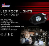 工場価格4のポッドのBluetooth制御オフロードトラック車のジープのボートのオートバイのための小型RGB LED石ライト9W IP68 LED石ライト