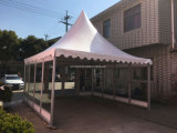 Gazebo do vidro de 5X5m com a porta do forro e do vidro