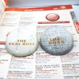 L'argento all'ingrosso della cupola esprime il Paperweight di vetro Hx-8389 della foto