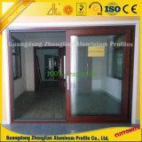 Perfil de aluminio de la protuberancia del grano de madera para Windows y las puertas