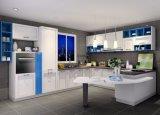 De moderne Witte Keuken Carbinet van de Deur van de Lak van de Steen