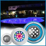 Ventes chaudes ! lumières sous-marines de piscine de 18W IP68 DEL