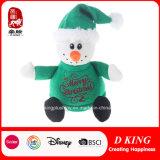 Het Speelgoed van de Sneeuwman van de Pluche van de Giften van Kerstmis met Groene Sweater