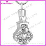 De Tegenhanger van de Fles van de Tegenhangers van de Juwelen van de crematie met Kristallen Ijd9646