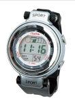 Relógios suíços da tâmara do cronógrafo de Digitas do movimento da faixa de borracha de caso plástico