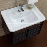 Cabina negra de la vanidad del cuarto de baño del acero inoxidable para el hogar