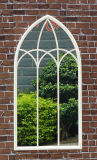 Espelho da parede da forma de Bridcage do vintage & espelho do indicador