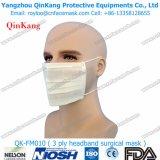 Mascarilla de papel de dos espesores disponible de 1-Ply 3-Ply 4-Ply con los Oído-Bucles elásticos o los Pista-Bucles Qk-FM0010 el elástico