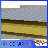 El metal incombustible y aislado hizo frente al panel de emparedado de las lanas de cristal de fibra para la tarjeta de la pared