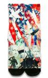Amerikanisches Farmous Zeichen gedruckte strickende Auslese-Socke