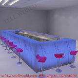 Il disegno moderno del contatore della barra di vino della mobilia del locale notturno di illuminazione di figura LED di U beve la barra