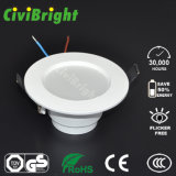 Plástico LED Downlight Tipo incrustado con el CE RoHS