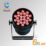 세륨 단계 사건 당을%s Powercon 5pins DMX 포트를 가진 승인되는 Rasha hex 24*18W 6in1 Rgbaw UV 단계 DMX LED 동위 빛