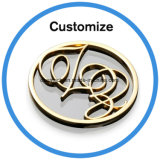 Personalizado Resina Epoxi Logo cúpula de cristal etiquetas autoadhesivas