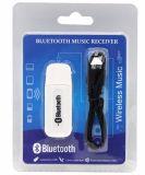ポータブル3.5mm可聴周波補助USB無線Bluetooth音楽受信機のDongleのBluetooth車キット
