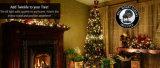 Decoraciones verdes rojas impermeables al aire libre de las luces de la Navidad de la tapa IP65 para el día de fiesta