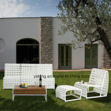 Euro sofà esterno popolare del patio di disegno semplice impostato con il blocco per grafici di &Aluminum della corda (YT996)