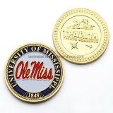 Pièce de monnaie de double de souvenir de logo d'effet d'or en métal fait sur commande 2D