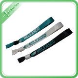 Regalos materiales de las actividades del poliester del Wristband de la impresión de la pantalla de seda