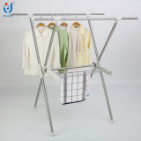 Foldable Stainless Steel Extendable X-Type Clothes Hanger Suit Rack Dryer