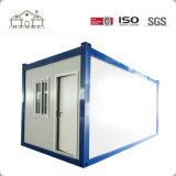 O recipiente pré-fabricado de aço da luz moderna do projeto simples dirige a casa