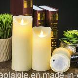Gelbe flammenlose Chirstmas Fertigkeit-Kerzen Wachs-Kerze der Flamme-LED verschiebend