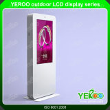 Индикация LCD экрана касания напольный рекламировать панели Tempered стекла