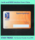 Feiertags-Geschenk-Karte gebildet von Kurbelgehäuse-Belüftung mit magnetischem Streifen (ISO 7811)