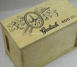 Caisse en bois de logo de bouteille faite sur commande du cru 6 pour le vin de bière