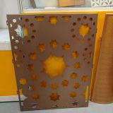feuille en aluminium épaisse de 3mm avec les configurations décoratives de perforations