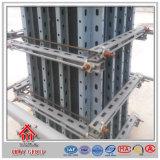 Encofrado material de acero de la pared del trabajo del edificio concreto